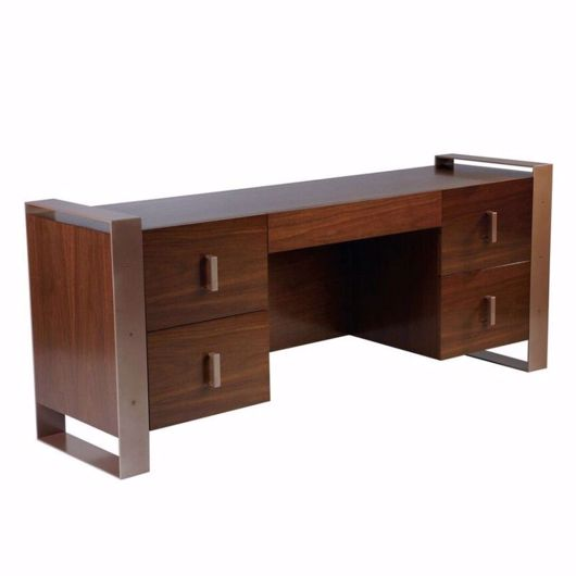 Picture of DK-06A DESK (2 FILE DRAWERS ON EACH SIDE & 1 CENTRAL PENCIL DRAWER)