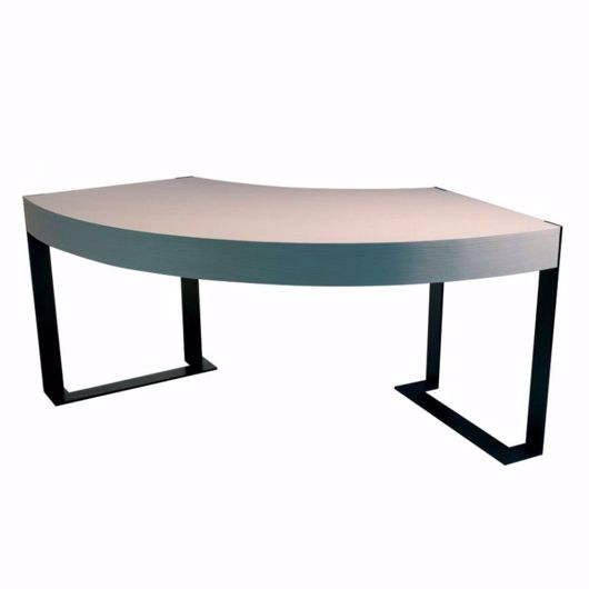 Picture of DK-95 DESK ARC SHAPED - WITH STRAIGHT GRAIN TABLE TOP