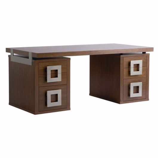 Picture of DK-128A DESK (TWO SMALL PEDESTALS, DESK TOP FULL LENGTH)