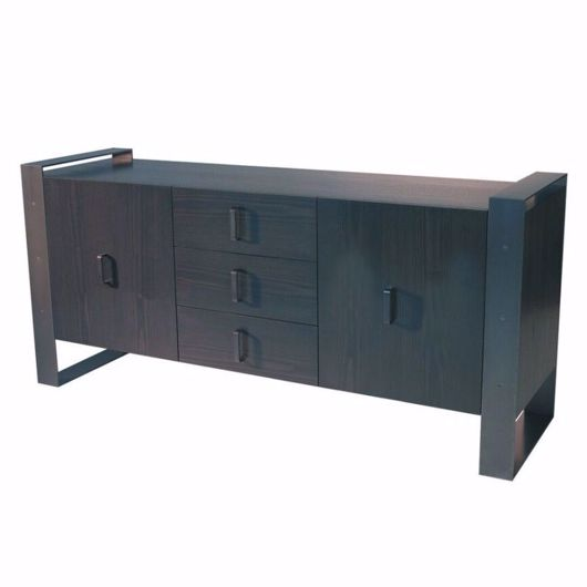 Picture of DR-06C DRESSER/BUFFET WITH CENTRAL BANK OF 3 DRAWERS AND 2 CUPBOARDS (2 DOORS) (WITH FINISHED BACK)