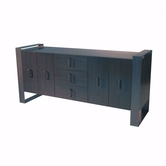 Picture of DR-06F DRESSER/BUFFET WITH CENTRAL BANK OF 3 DRAWERS AND 2 CUPBOARDS (4 DOORS) (WITH FINISHED BACK)