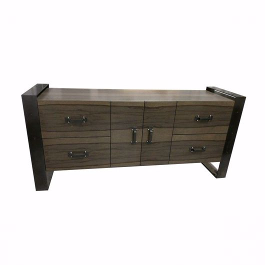 Picture of DR-06G DRESSER/BUFFET WITH CENTRAL CUPBOARD (2 DOORS) AND 2 BANKS OF 2 DEEP DRAWERS (WITH FINISHED BACK)