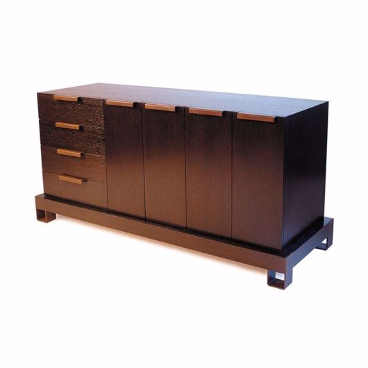 Picture of DR-76A DRESSER BUFFET WITH 1 BANK OF 4 DRAWERS AND 2 CUPBOARDS (4 DOORS) (WITH FINISHED BACK)