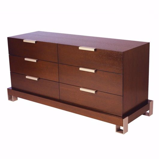 Picture of DR-76E DRESSER WITH 2 BANKS OF 3 DRAWERS (WITH FINISHED BACK)