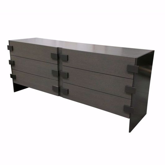 Picture of DR-203B WITH 2 BANKS AND 3 DRAWERS (WITH FINISHED BACK)