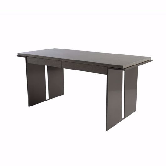 """Picture of DK-202-V2 DESK (WITH TWO WIDE METAL LEGS AND SPACE BETWEEN THEM, CONNECTED AT THE FLOOR WITH 1/2"""" OF METAL)"""
