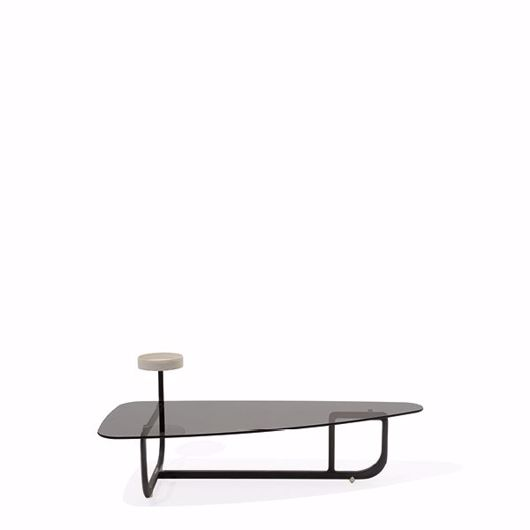Picture of AMIRAL COFFEE TABLE IN ASH WOOD, TOP IN CRYSTAL GLASS