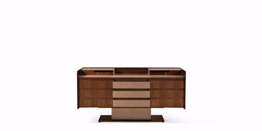 Picture of CORIUM TALL CHEST OF DRAWERS IN WALNUT CANALETTO
