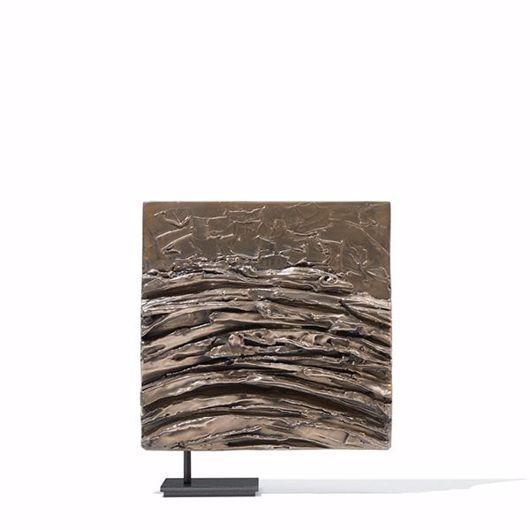 Picture of LIQUID BARK SCULPTURE IN BRONZE-COLOURED LIQUID METAL